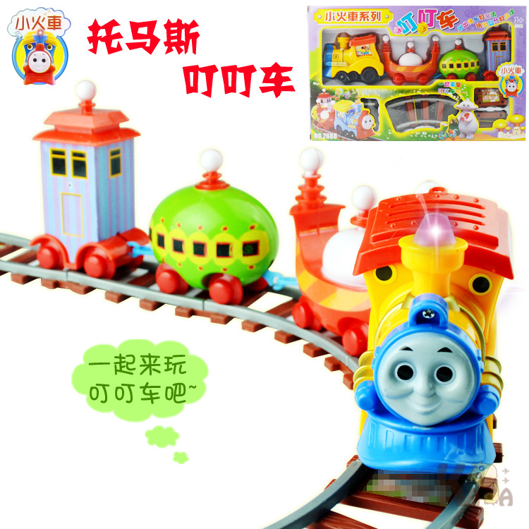 Thomas Garden Baby car electric train track children educational toys rail car model slot toy simple orbit car kids gifts(China (Mainland))