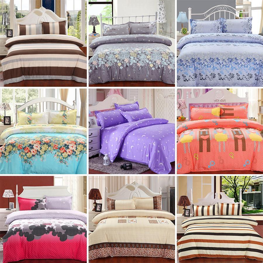 2015 New Printing Bedding Set Fashion Bed Sheet / Duvet Cover / Pillowcase Winter Cotton 4 Pcs Bed Set Comforter Bedding Sets(China (Mainland))