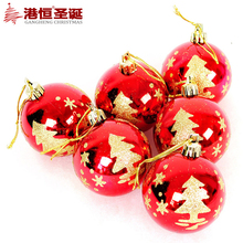 Ornaments 6 cm red