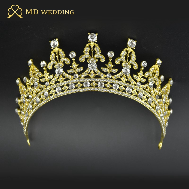 Gold Silver/Red Two Tone Heart Bridal Tiara Crown Crystal Pageant Bridal Accessories Headpiece Headband Wedding Tiara Rhinestone(China (Mainland))