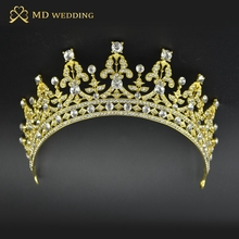 Gold Silver Two Tone Bridal Tiara Crown Crystal Pageant Bridal Wedding Accessories Headpiece Headband Wedding Tiara Rhinestone(China (Mainland))