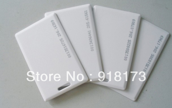 100pcs/lot 125KHz rfid EM ID Thick Card Access Control System card RFID Card with 18 inner code(China (Mainland))