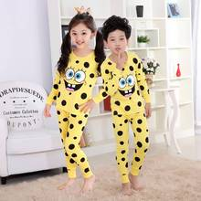 kids clothes SpongeBob long underwear sets boys pijama suit children clothing set girls 2 Pieces Sets pyjama enfant sleepwear