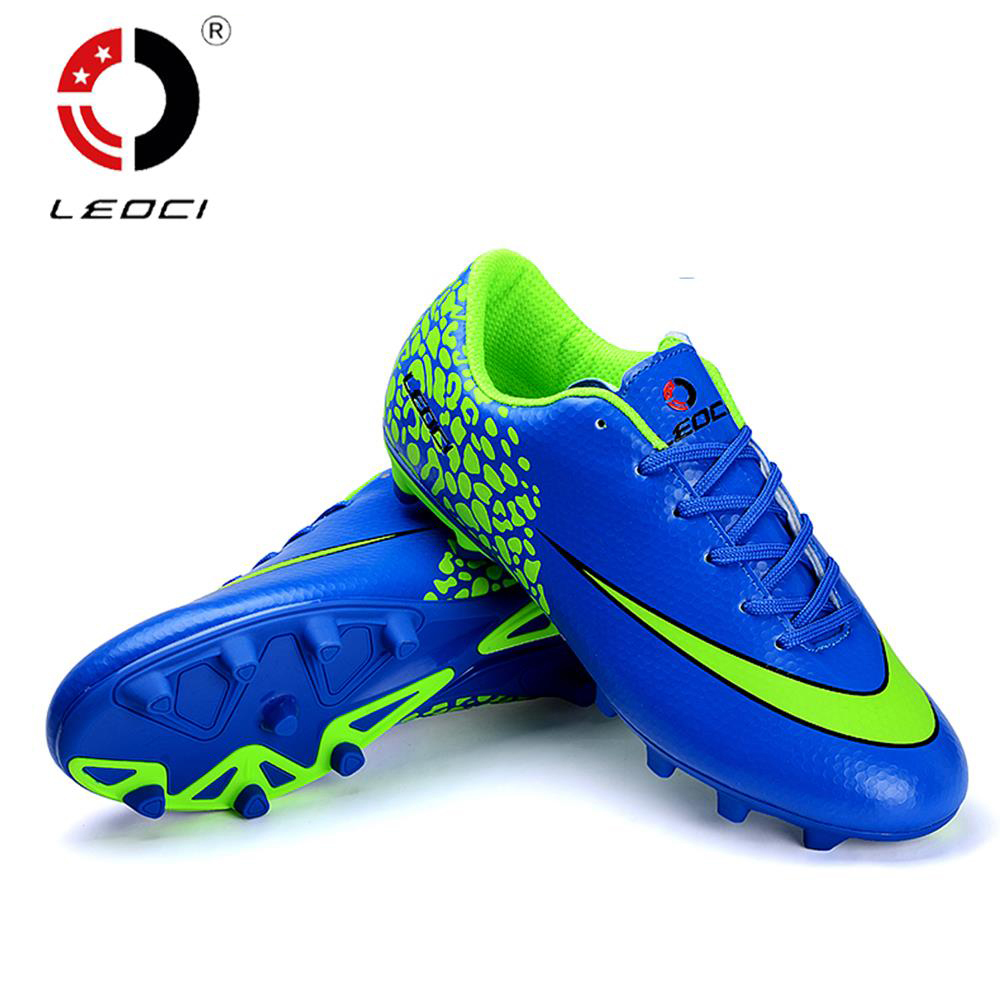 LEOCI Unisex Adult and Children Training Shoes FG Soccer Cleat Firm Ground Soccer Shoes Outdoor Lawn Football Boots Size 33-44(China (Mainland))