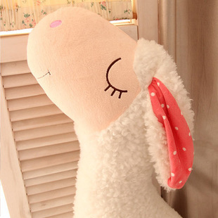 New Arrival Cute Sleeping Sheep Stuffed Toy Soft Plush Doll Lamp Long Pillow Cushion Birthday Gift 90cm one piece(China (Mainland))