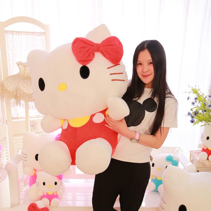 60cm Big Hello Kitty Doll Brinquedos Stuffed Animals Toys High Quality Hello Kitty Plush Toys For Girl Polka Dot Girlfriend Gift(China (Mainland))