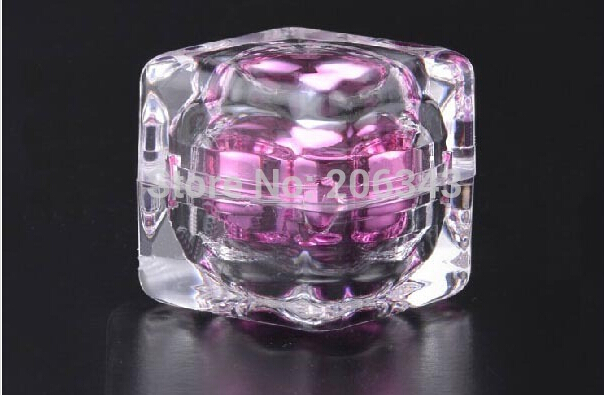 10g ACRYLIC square shape pink cream bottle,cosmetic container,,cream jar,Cosmetic Jar,Cosmetic Packaging<br><br>Aliexpress