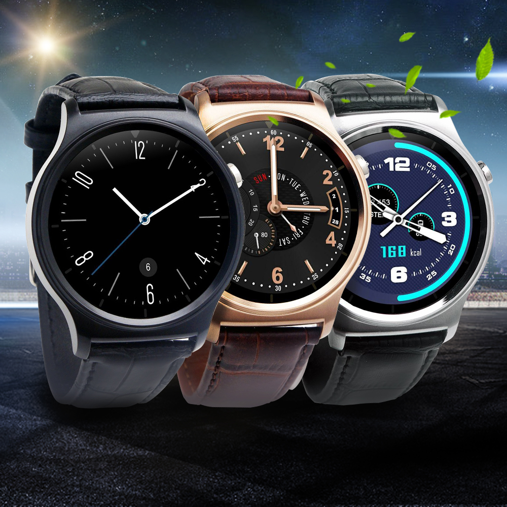 Ulefone GW01 Bluetooth 4.0 Smart Watch IPS Round Screen Life Water Resistant Anti-lost Smartwatch Support Android iOS System(China (Mainland))