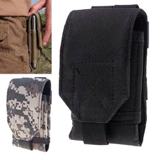 New Army Camo Bag Mobile Phone Hook Loop Belt Pouch Sleeve Holster Cover Case Large Size For Cubot X16, Vkworld VK700X Phone