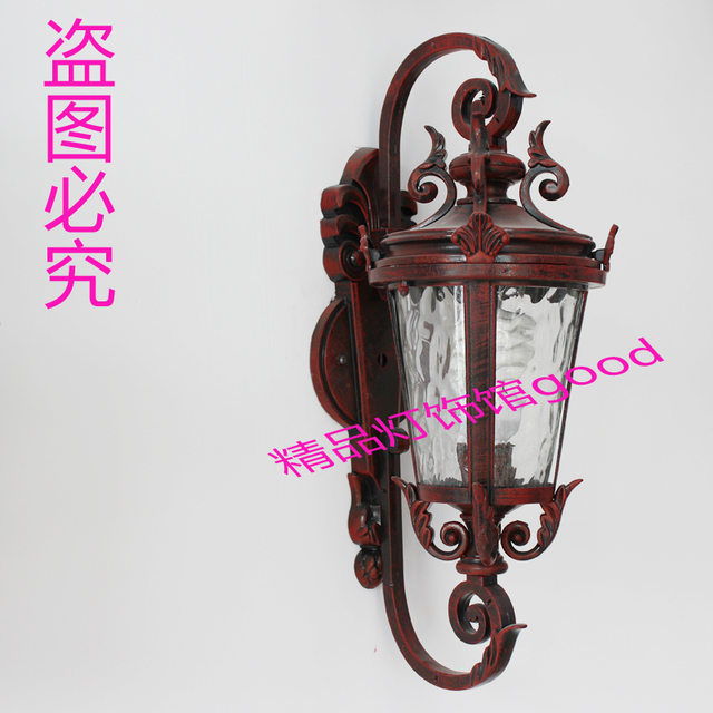 Fashion  vintage rustic modern brief chinese style antique  waterproof  outdoor wall lamp