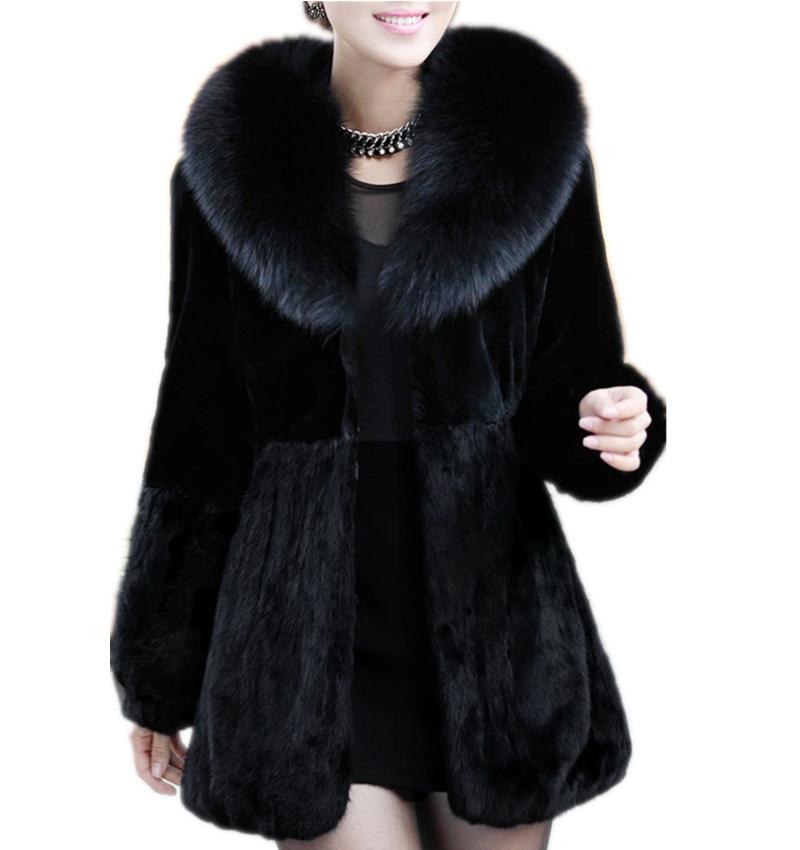 Gorgeous Winter Women Long Slim Fur Jacket Warm Faux Fur Coat Elegant Long Sleeve Female Outerwear 2015 New Fashion Black ZP752Одежда и ак�е��уары<br><br><br>Aliexpress