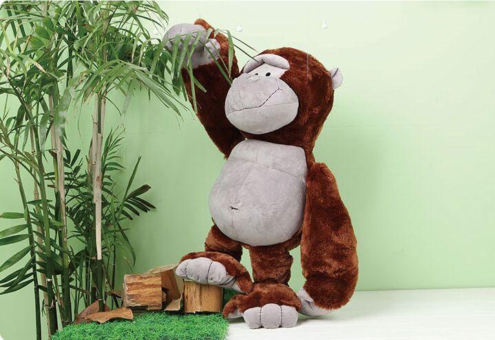 new plush monkey toy lovely orangutans doll hugging monkey gift doll about 80cm(China (Mainland))