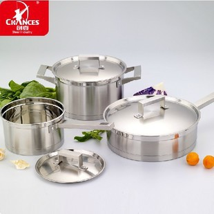 0 Cookware 304 stainless steel cookware straight body cooking pots and pans electromagnetic furnace quality cookware(China (Mainland))