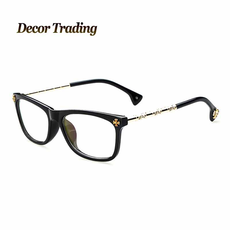 2015 brand vintage metal bamboo leg eyeglasses frame plain ...