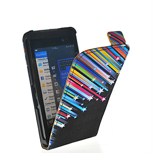 Free shipping beautiful meteor rain-style leather flip pouch case cover FOR Blackberry Z10 London, Surfboard, L-Series, L10 30
