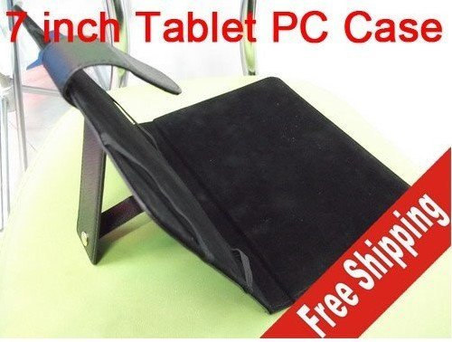 7 inch leather laptop case, for apad epad ebook mid Tablet PC, free shipping