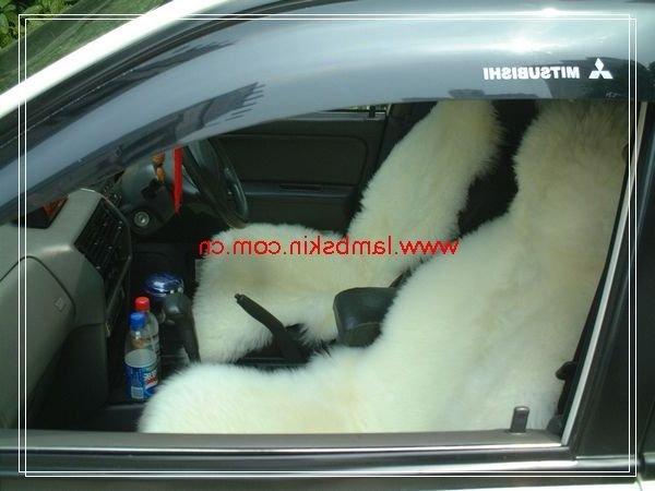 Фотография 2pcs Genuine Australia Sheepskin Car Seat Cover (White)