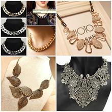 New Fashion Charm Jewelry Pendant Chain Crystal Choker Chunky Statement Bib Necklace for Women Gifts(China (Mainland))