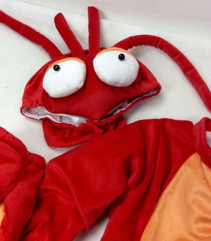 Скидки на Christmas Xmas Новый родившийся Ребенок косплей костюм хэллоуин омар костюм мальчиков животных ползунки малыша комбинезоны комплект одежды
