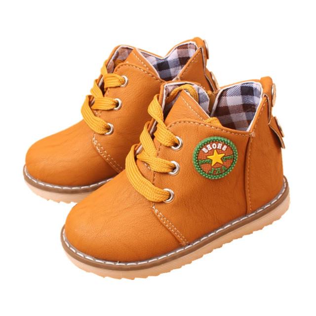 Мода дети сапоги мальчики девочки снег загрузки обувь дети весна осень высокое качество удобные детские мартин загрузки ребенка полусапожки