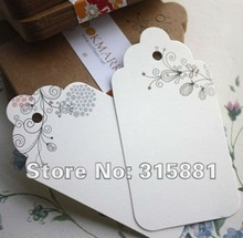 Flowery printing DIY Unique Cards,bookmarks,paper tags 100pcs/lot(China (Mainland))