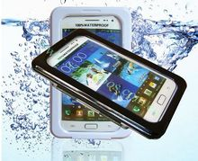 Mobile Phone Waterproof Case Drop Resist Phone Bag for Samsung Galaxy Note II N7100 with Strap, 50pcs/lot free shipping(China (Mainland))