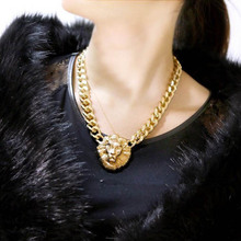 Gold & Multi Lion Necklace 18K Gold Jewelry Hot Sale Online