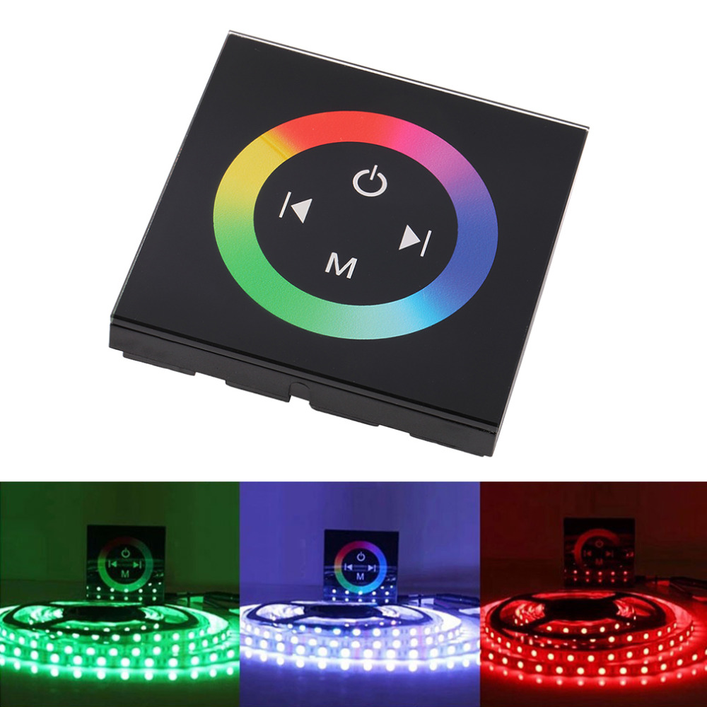 Hot Household Wall RGB LED Touch Panel Controller led Dimmer for DC 12V LED Strip New(China (Mainland))
