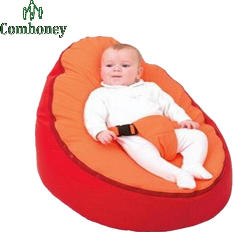 Baby Bean Bag Cover for Toddlers Comfortable Velvet Infant Beanbag Sofa Cover Newborns Child Sofa Game Pad Booster Seat Cover(China (Mainland))