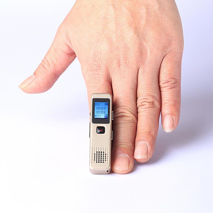 2016 New Professional Digital Voice Recorder 8GB WAV Audio Recording Pen Mini Dictaphone 15hours gravador de voz + MP3 Player(China (Mainland))