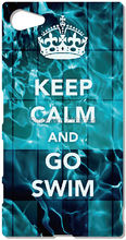 Keep Calm And Go Swim Mobile Case For Sony Xperia Z Z1 Z2 Z3 Z4 Z5 Compact Mini E4 M C1904 C1905 M2 M5 C3 C4 SP M35h Phone Cover