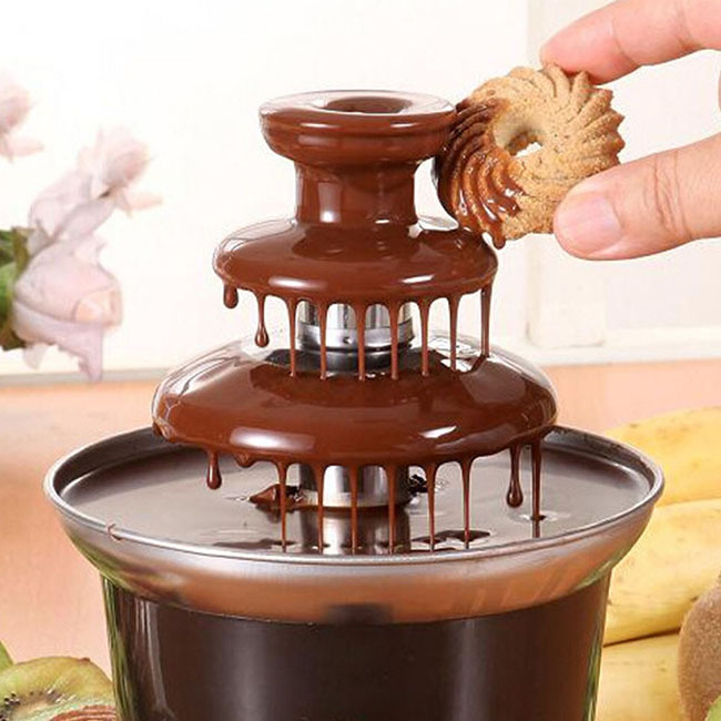 home three layers chocolate fountain machine chocolate fondue homemade chocolate fit for family. Black Bedroom Furniture Sets. Home Design Ideas