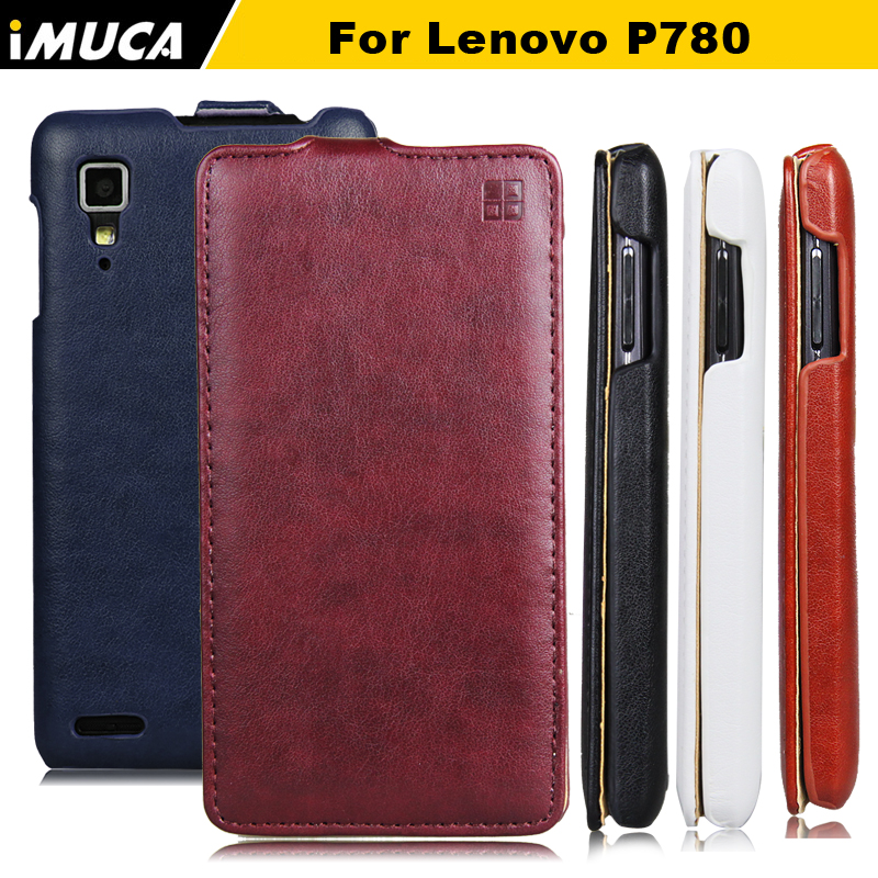 iMUCA Brand Leather Case Cover for Lenovo P780 P 780 Holster Flip Case Shell Mobile Phone Bag Skin Vertical Phone Protection Bag(China (Mainland))