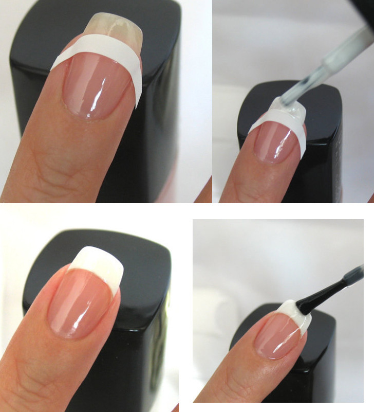 How to do a french tip pedicure at home