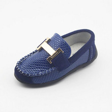 2016 Spring Luxury Leather Boys Loafers Slip On Childen Boys Creepers Leather Kids Boys Casual Shoes Boat Shoes Zapatos Ninos(China (Mainland))