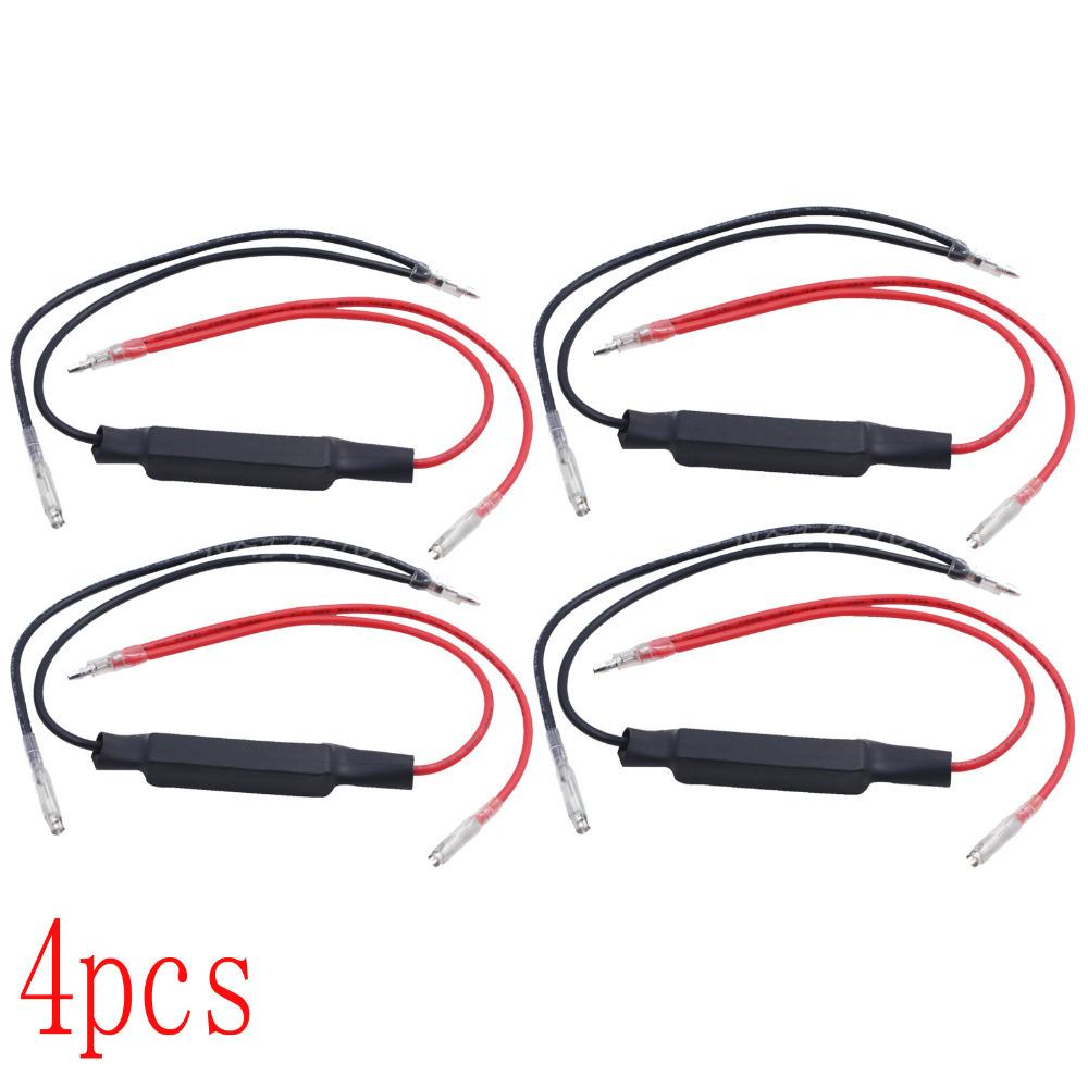 New 4pcs 12V Universal Motorcycle Flasher LED Turn Signal Indicator Resistor Adaptor Free Shipping<br><br>Aliexpress
