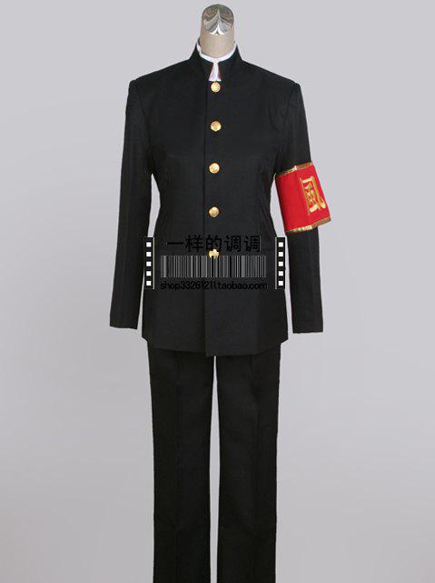 Katekyoo Hitman Reborn hibari kyoya cosplay costume Chinese tunic suit+Tie+jacket+pants+long-sleeved shirt Free armbandОдежда и ак�е��уары<br><br><br>Aliexpress