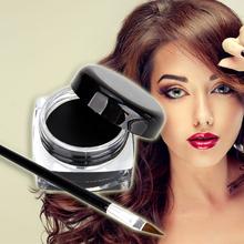 Hot Selling Eye Liner Cosmetics Makeup Waterproof Liquid Eyeliner Shadow Gel Makeup Brush Black LY067