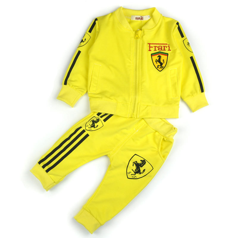 2016 New 4 color 2-5 Years Baby Girls Suits Sports Children's Clothing Sets Baby Boys Spring Suit Set Baby Girl Long Sleeve Sets(China (Mainland))