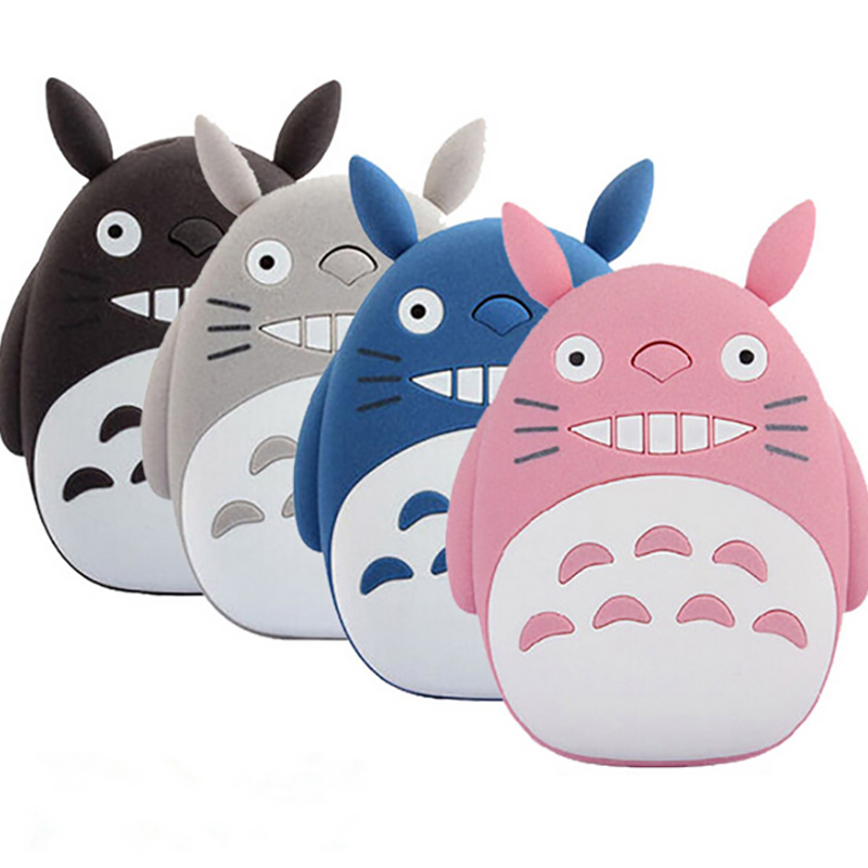 Cute Cartoon totoro Cat Style 12000mAh Power Bank Portable External Battery Charger For Mobile Phone