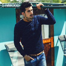 Simwood 2016 New Arrival Famous Brand Slim Casual O-neck Knitted Men Sweater Striped Pullover Mens Free Shipping MY362(China (Mainland))