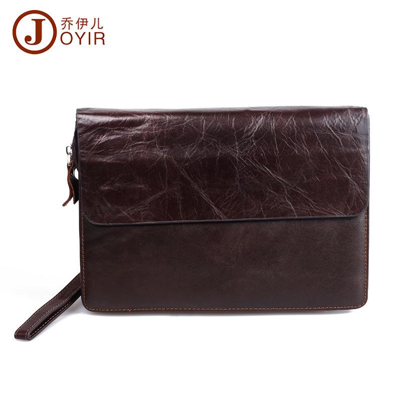 Genuine Leather Handbag Men Clutch Zipper Wallet Long Casual Day Clutch Bag Men's Wallet Leather Purse Card Holder Purse(China (Mainland))