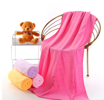 Summer hot sale pure color bath towel microfiber bath towel 140*70cm special price bath towels for adults free shipping(China (Mainland))