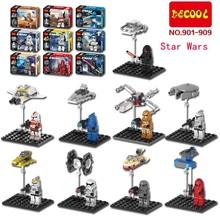 Decool 901-909 Star Wars MiniFigures White Solider Clone Trooper Captain Rex Jek 14 Commander Building Blocks toys - 5A Toys Top Service Provider store