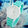 15 צבעים גבירותיי שעון קלאסי ג 'ל קריסטל, סיליקון ג' לי נשים שמלת השעון 1pcs/lot