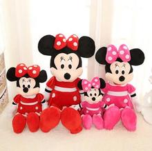40cm High quality hot sale new Minnie Mouse plush toys for children's birthday gift present 1pcs minnie