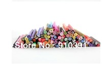 Free shipping Candy color DIY nail art sticker decal mini soft Clay Canes rods as phone decoration sticker Nail beauty product