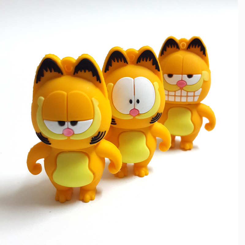 Hot Selling Cartoon Garfield Family USB Flash Drive 8GB 16GB 32GB 64GB Memory Stick Pen Drive Flash Pendrive USB 2.0(China (Mainland))