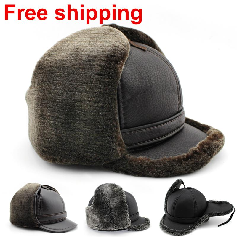 2016 new best seller design fashion winter warm fur men hat with two colours free shipping