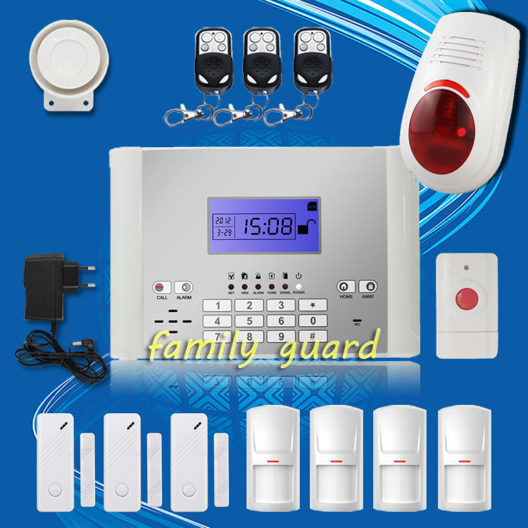 Free Shipping! Android APP Wireless GSM SMS Home Alarm System 99 Zones Long Distance Control+Outdoor Flash Siren+Panic Button(China (Mainland))